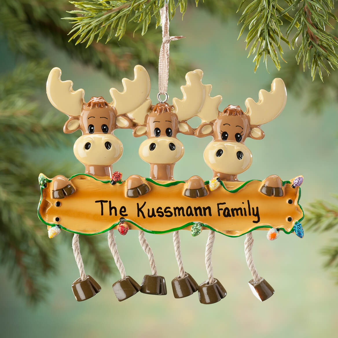Personalized Moose Family Ornament-364909