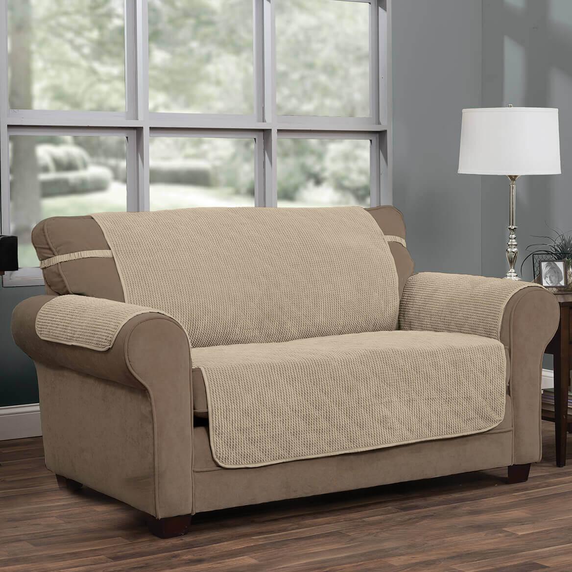 Ripple Plush Sofa Protector-365453