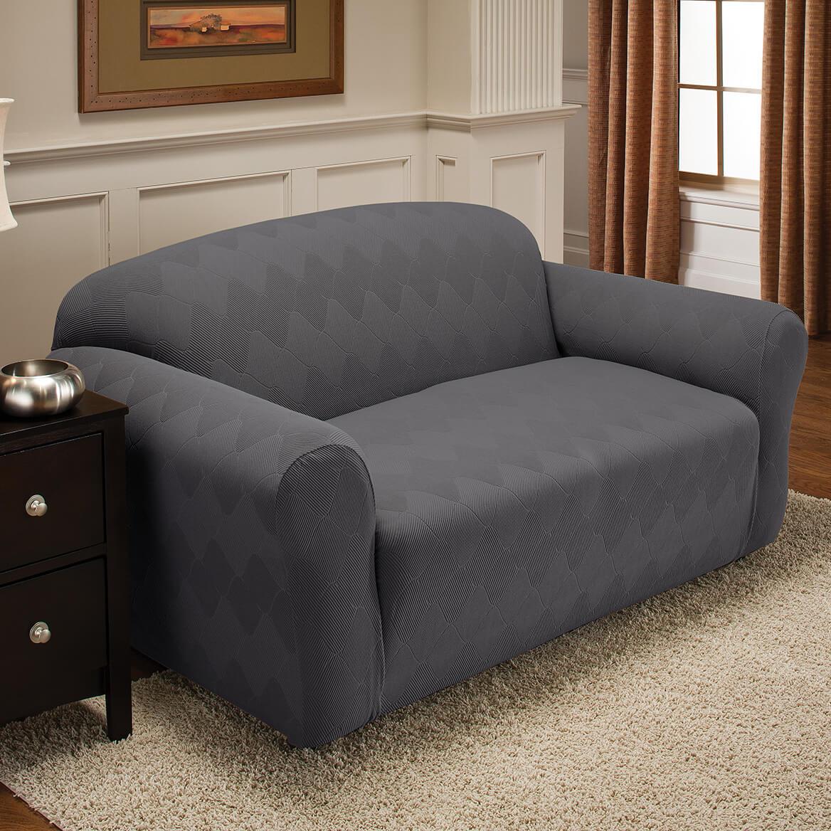 Optic Sofa Stretch Slipcover-365481