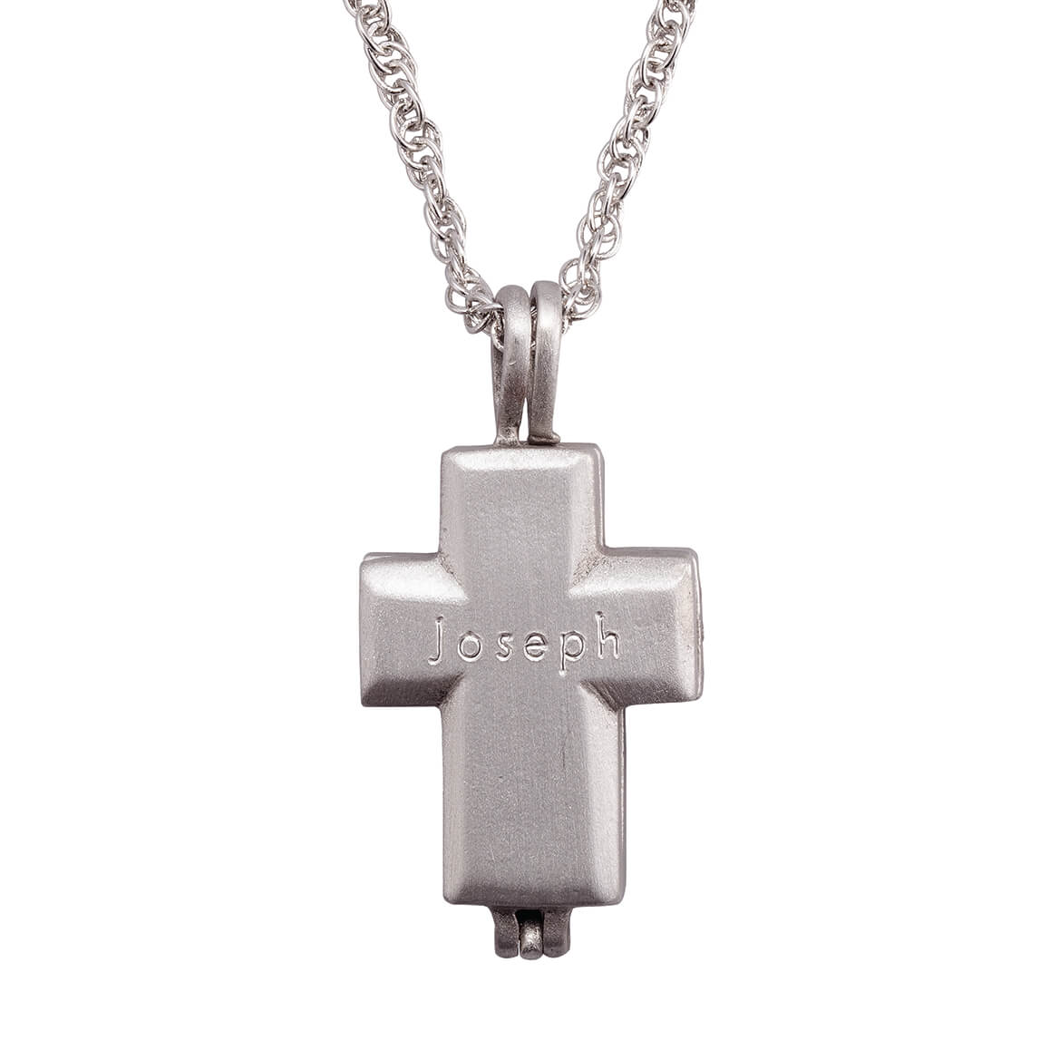 Personalized Memorial Cross Pewter Locket with Mini Urn-365564