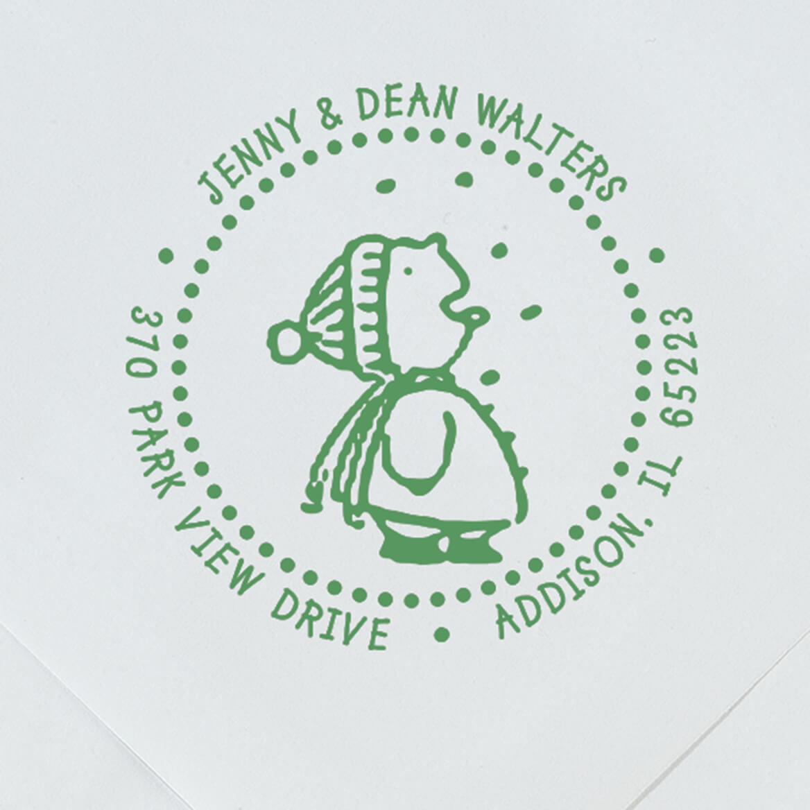 Personalized Snow Fun Stamper-365600