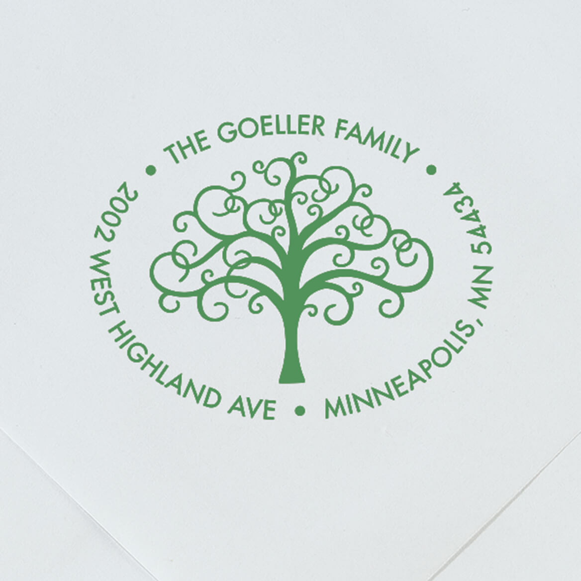 Personalized Family Tree Stamper-365602