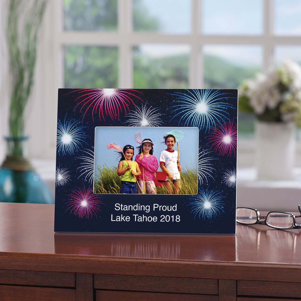 Personalized Fanciful Fireworks Frame-365632