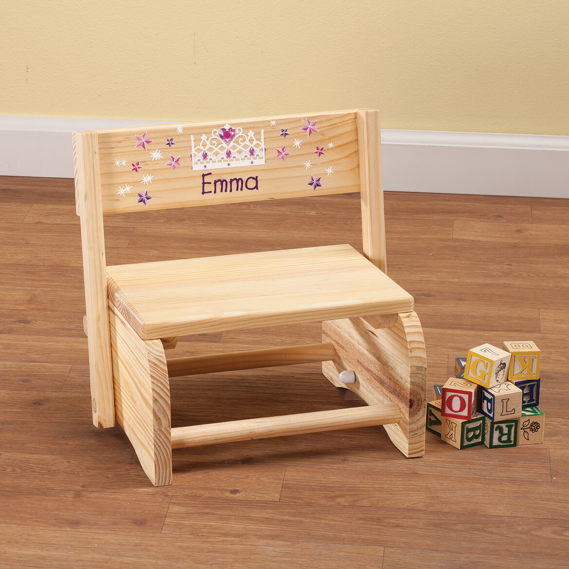 Personalized Children's Princess Step Stool-365660