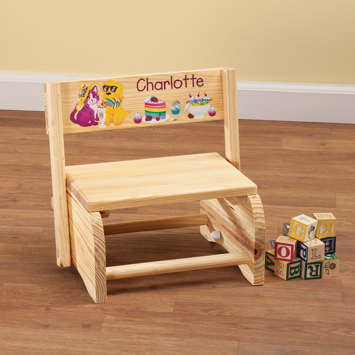 Personalized Children's Animals & Dessert Step Stool-365666