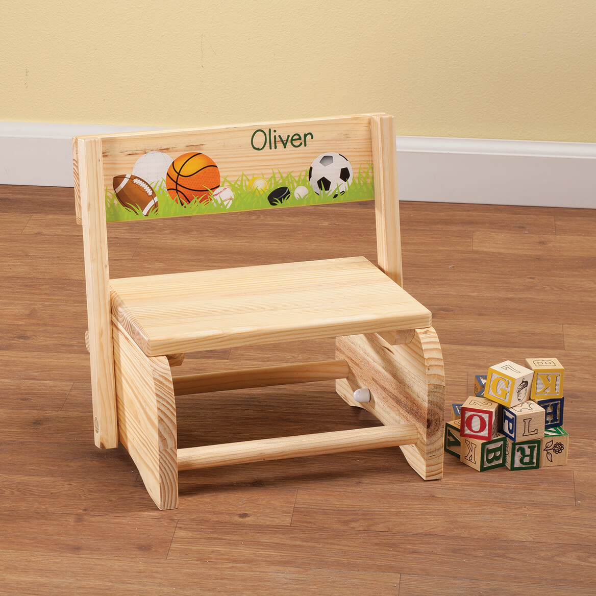 Personalized Children's Sports Step Stool-365668