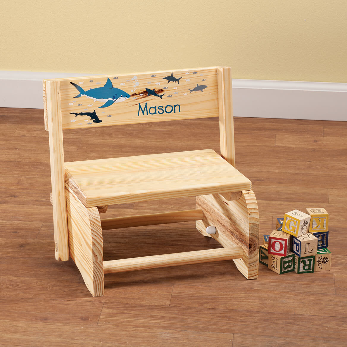 Personalized Children's Sharks Step Stool-365670