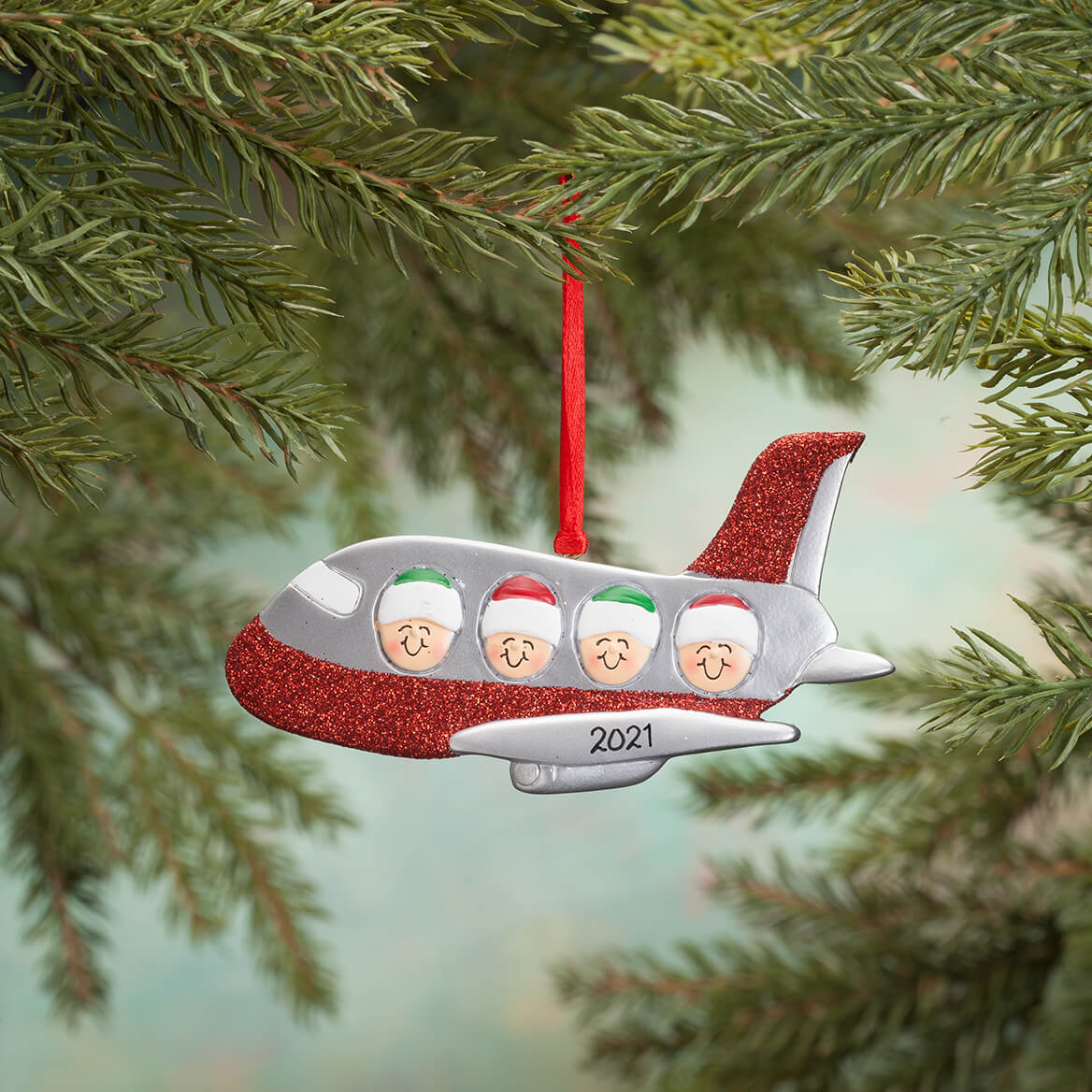 Personalized Family Airplane Ornament-365697