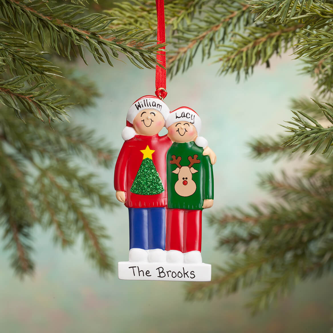 Personalized Family Sweater Ornament-365699