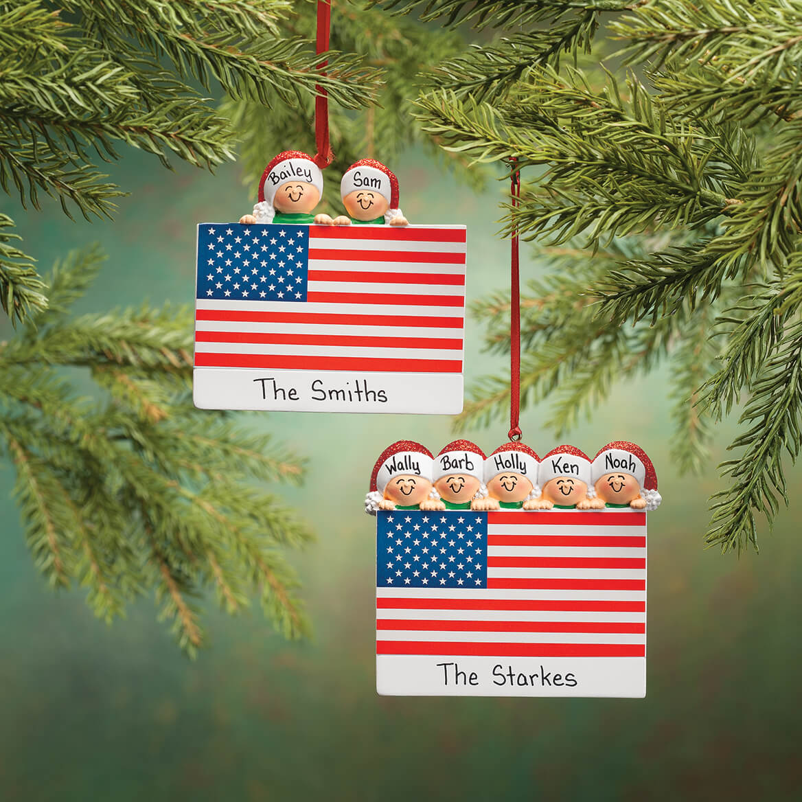 Personalized Patriotic Family Ornament-365723