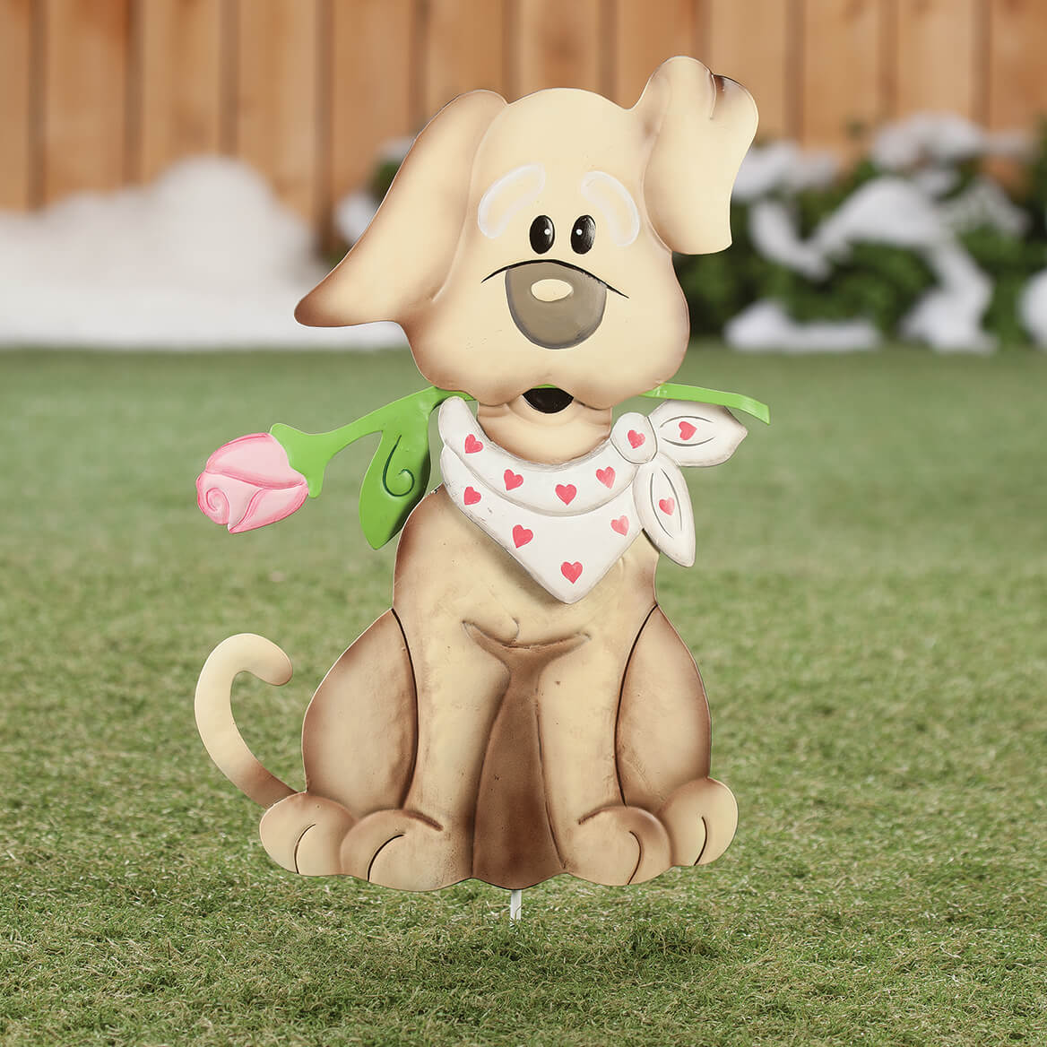 Metal Valentine's Puppy Stake by Fox River Creations™-365855