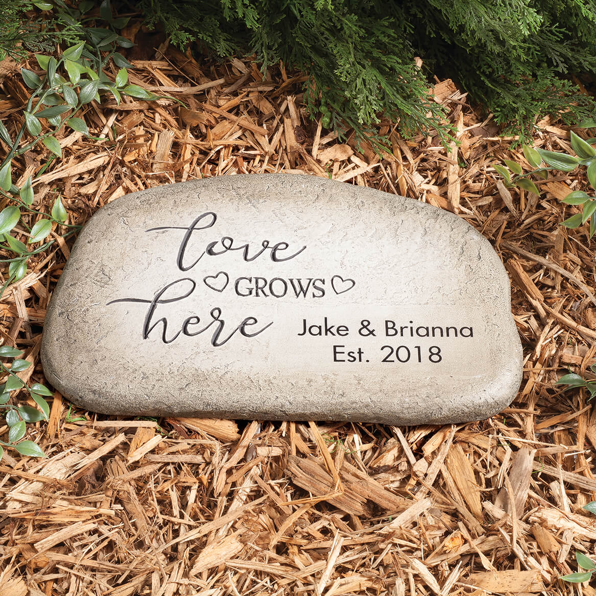 Personalized Love Grows Here Garden Stone-365858