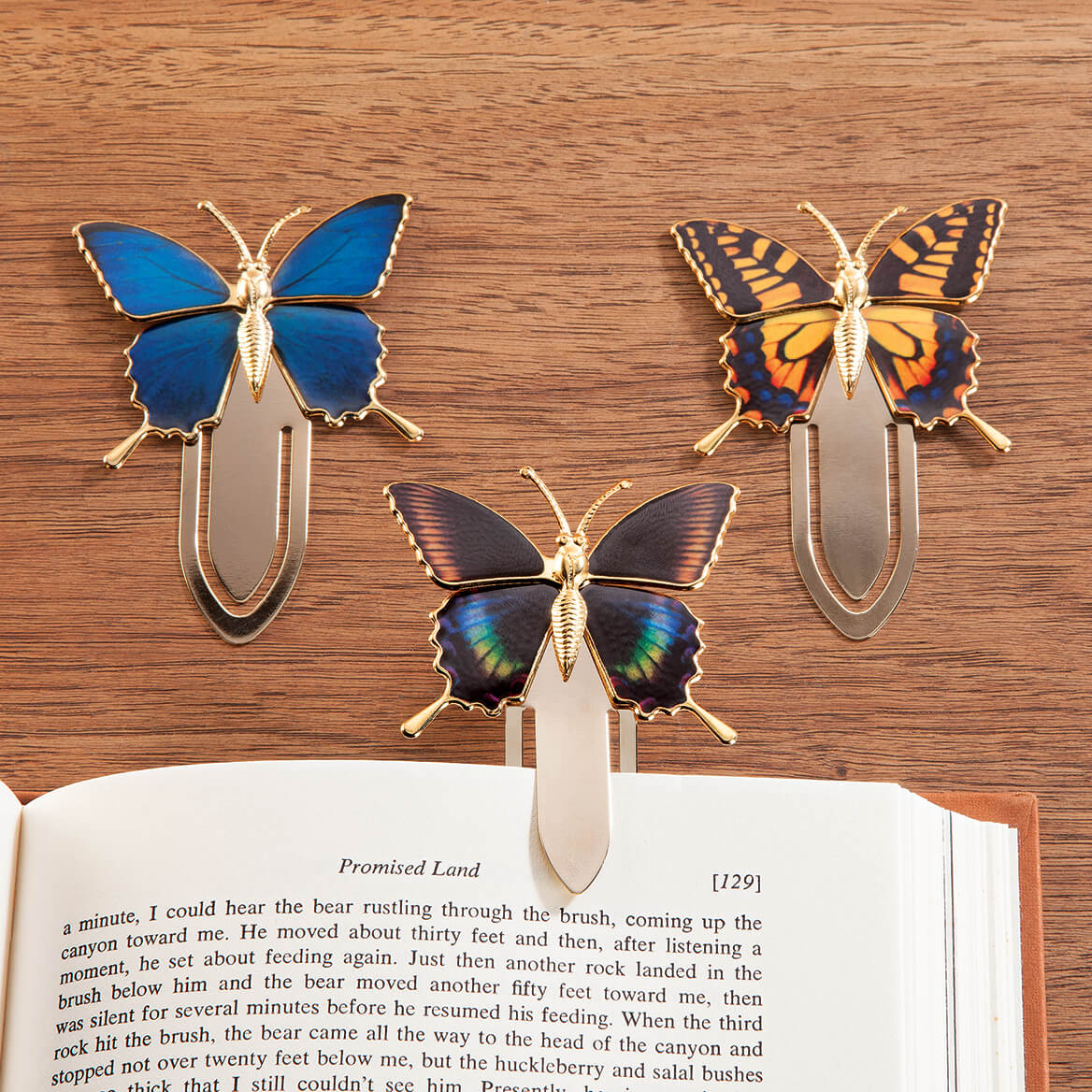 Butterfly Bookmark Clips Set of 3-366061