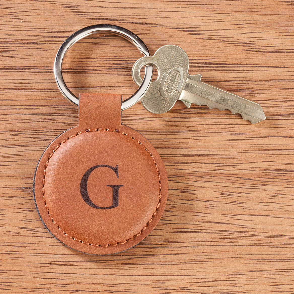 Personalized Leatherette Round Keychain-366089
