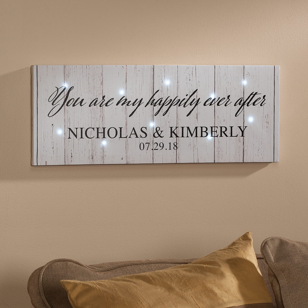 Personalized Happily Ever After Lighted Canvas-366107
