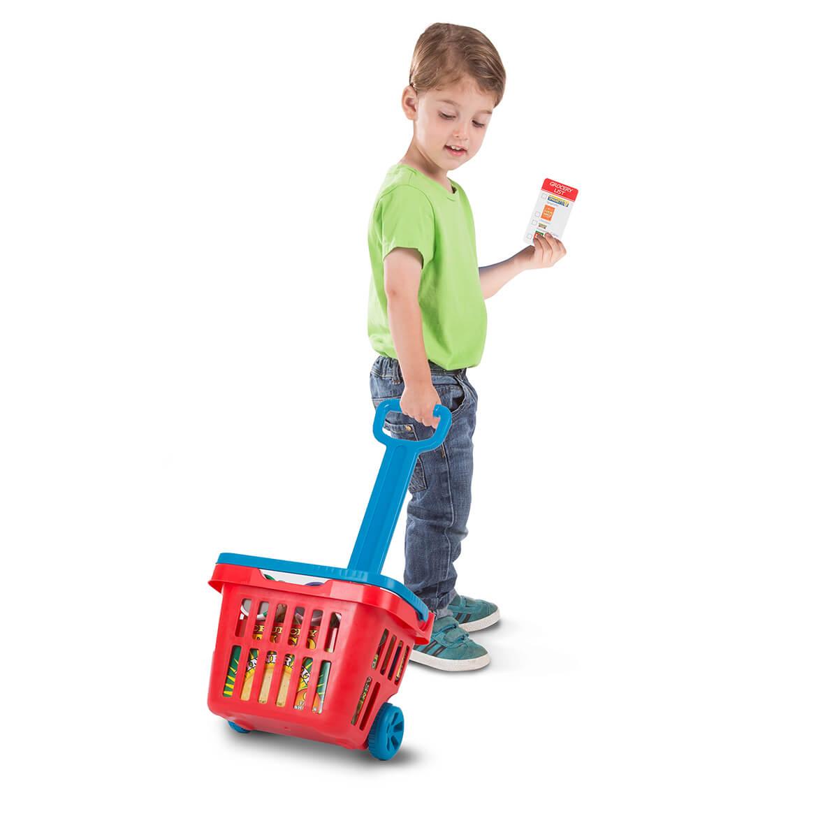Melissa & Doug® Rolling Grocery Basket-366284
