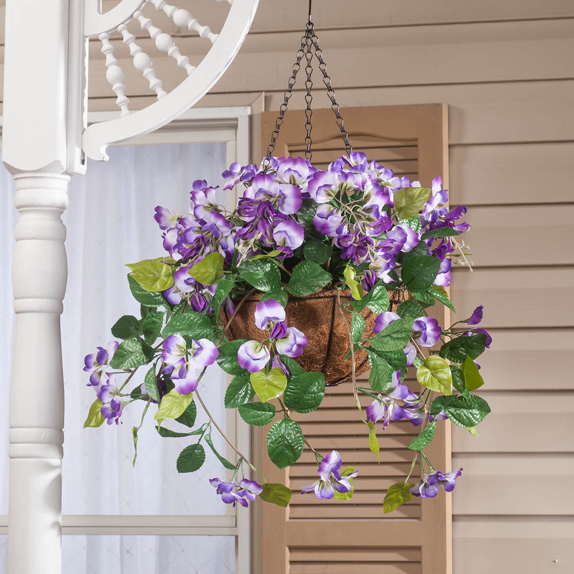 Fully Assembled Wisteria Hanging Basket by OakRidge™-366606