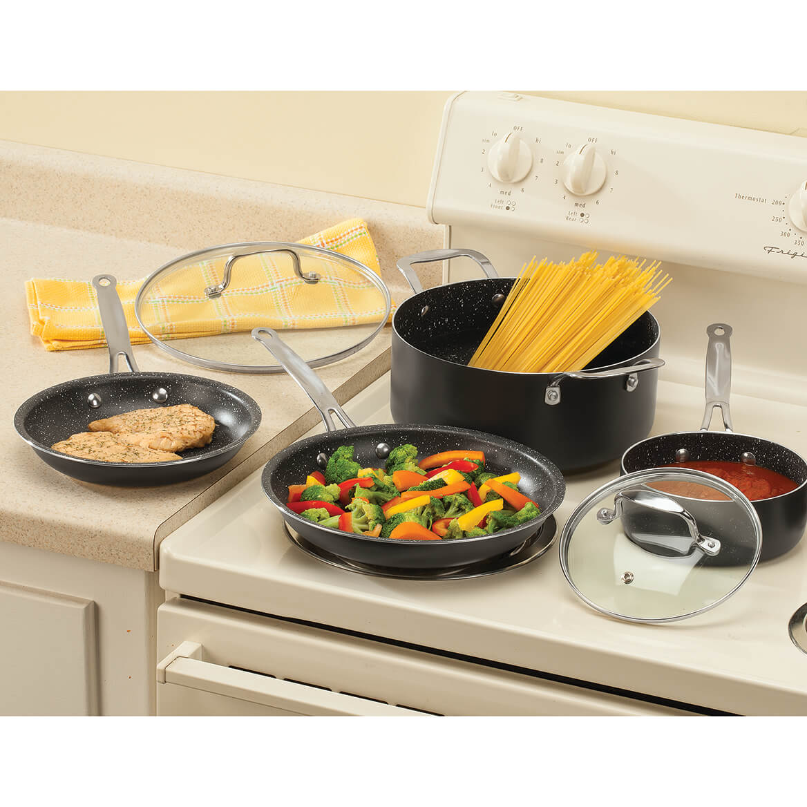 Homestyle Kitchen 6 Piece Non Stick Cookware Set-366688
