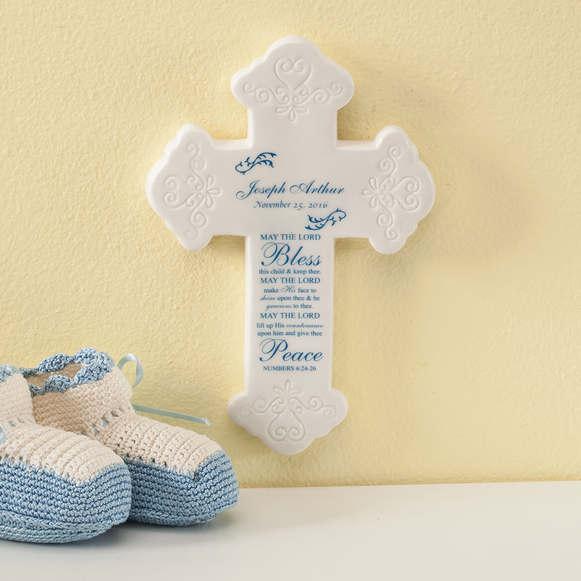 Personalized Bless This Child Ceramic Cross-367057