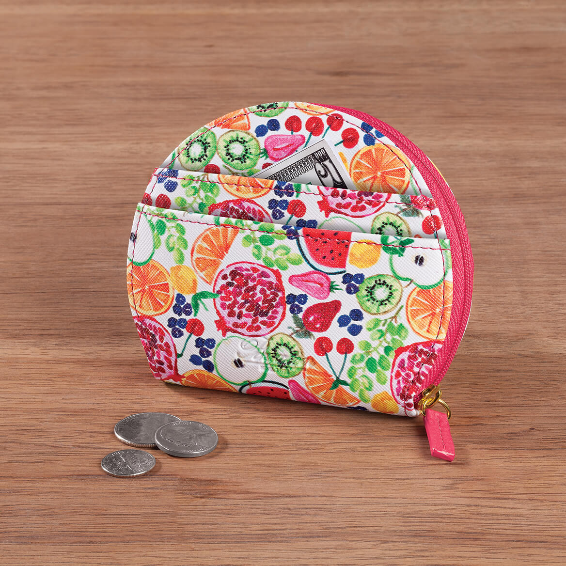 Buxton® Fruit Fiesta Domed Coin Purse-367419