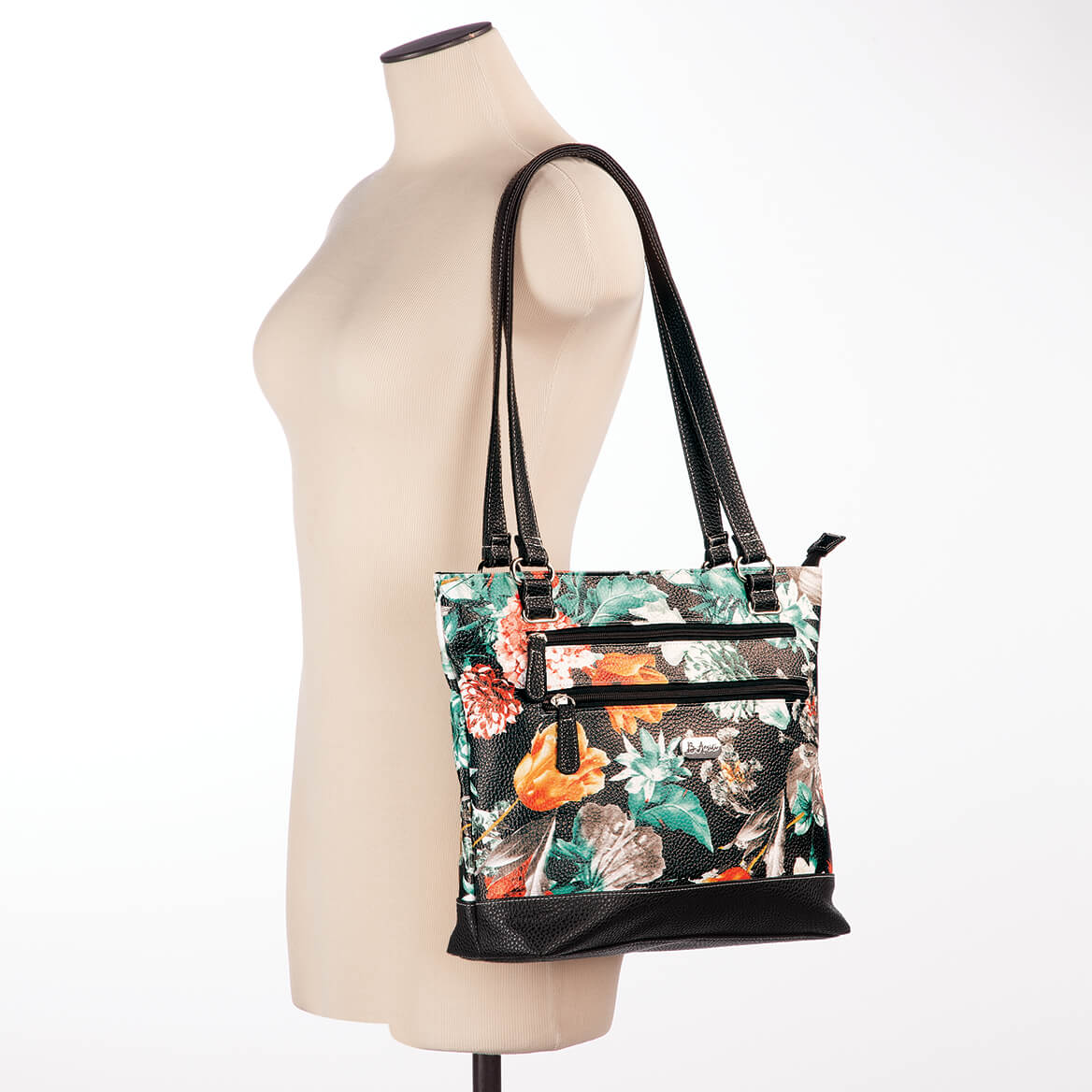 63a1b774d ... B.Amici™ Viola RFID Floral Leather Tote-367446