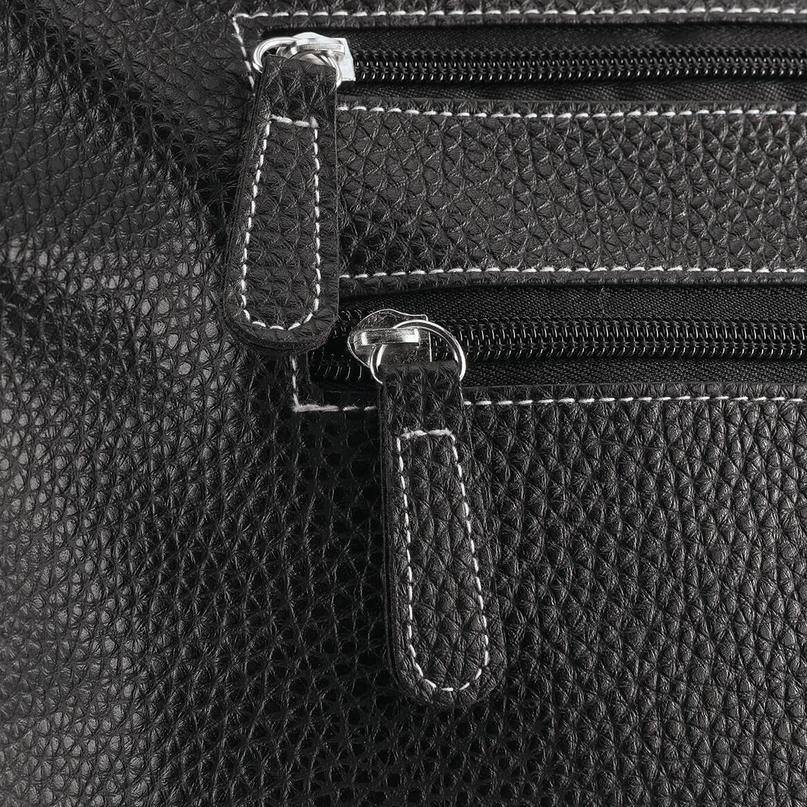 B.Amici™ Elisa RFID Black Leather Tote-367447