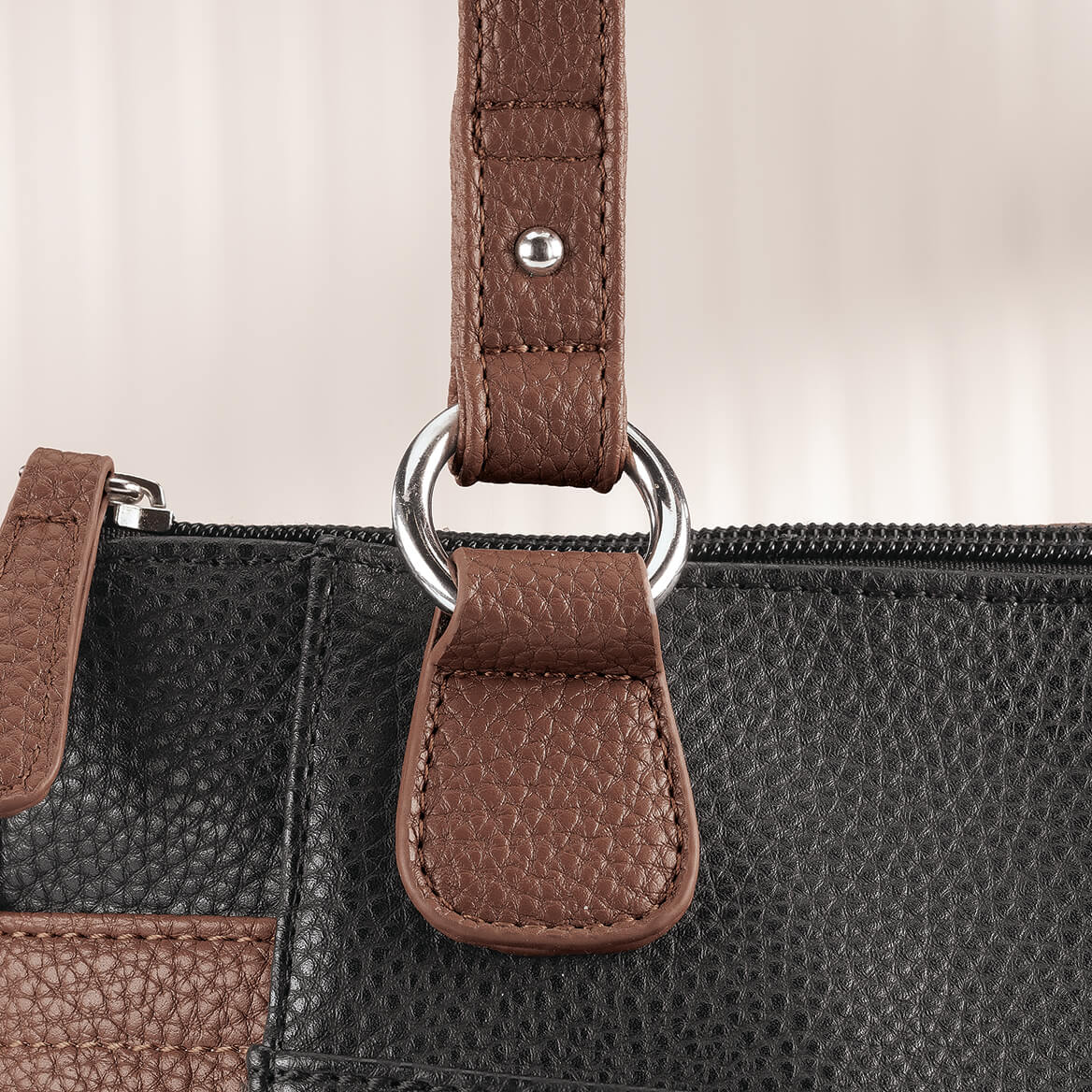 B.Amici™ Nicole RFID Greenwich Multi Pocket Leather Satchel-367449