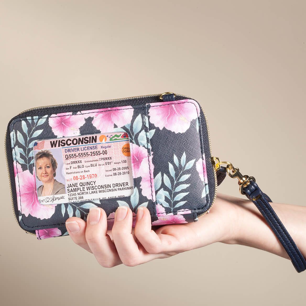 Buxton® RFID Hibiscus Cellphone Crossbody Wallet-367471