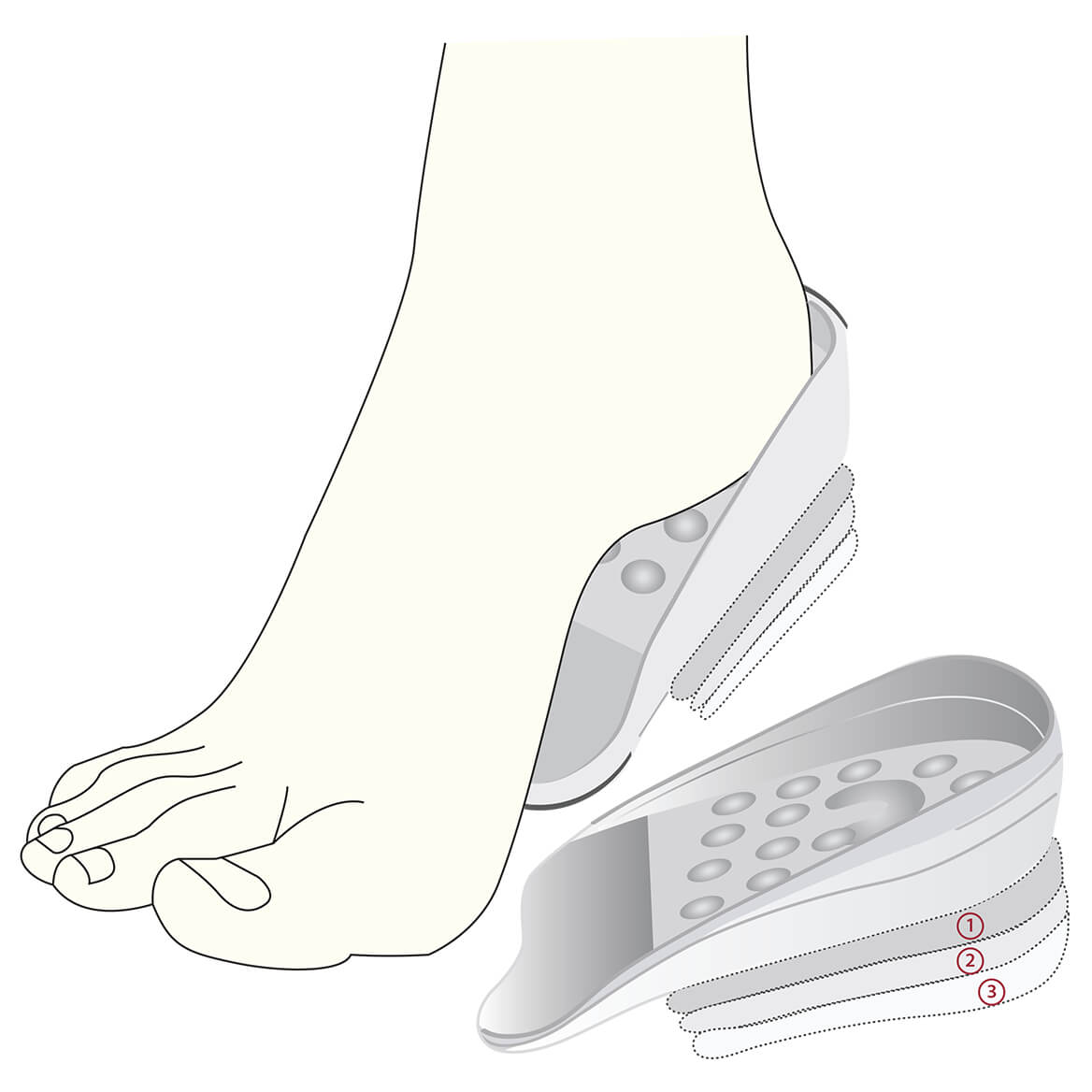 Adjustable Heel Height Gel Inserts by Silver Steps™-367511