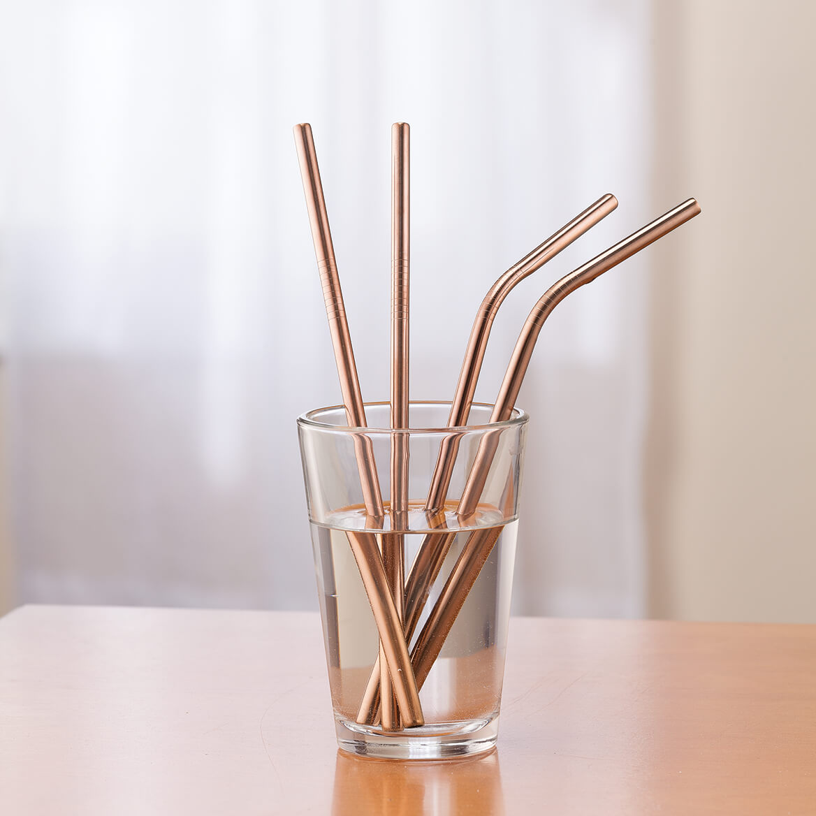 5-Pc. Copper Color Reusable Straw Set-367513