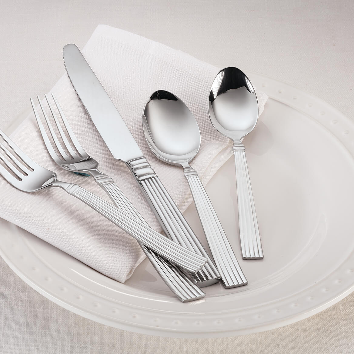 William Roberts Pillar 45-Pc. Stainless Steel Flatware Set-367550