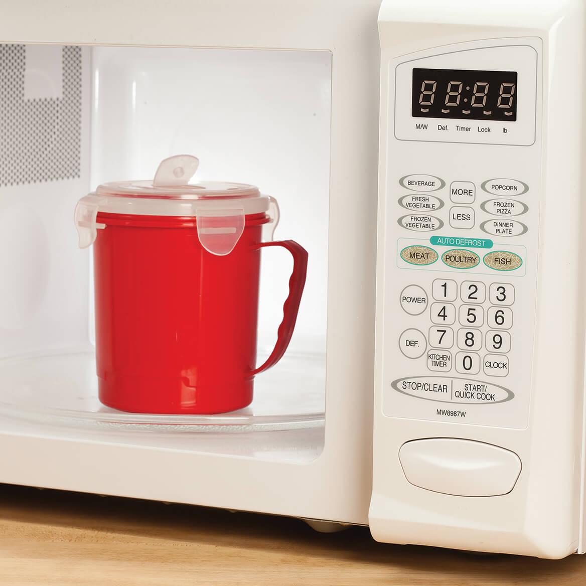 22 oz Microwave Soup Mug w/Vented Lid by Chef's Pride Set/2-367555