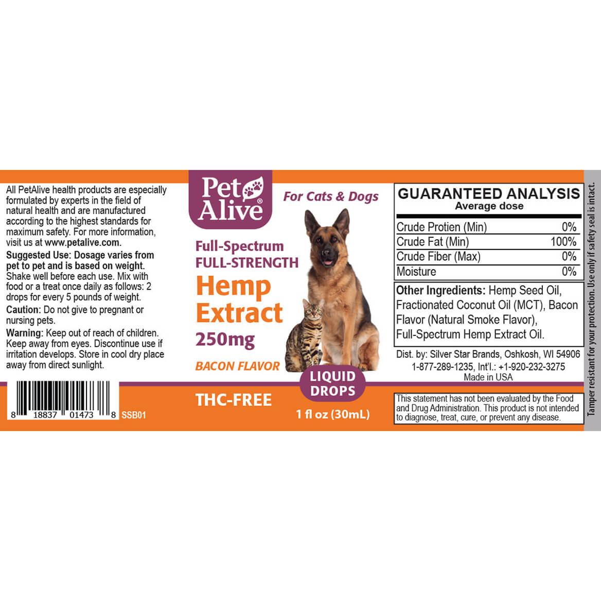 PetAlive® Full-Strength Hemp Extract 250 mg-367954