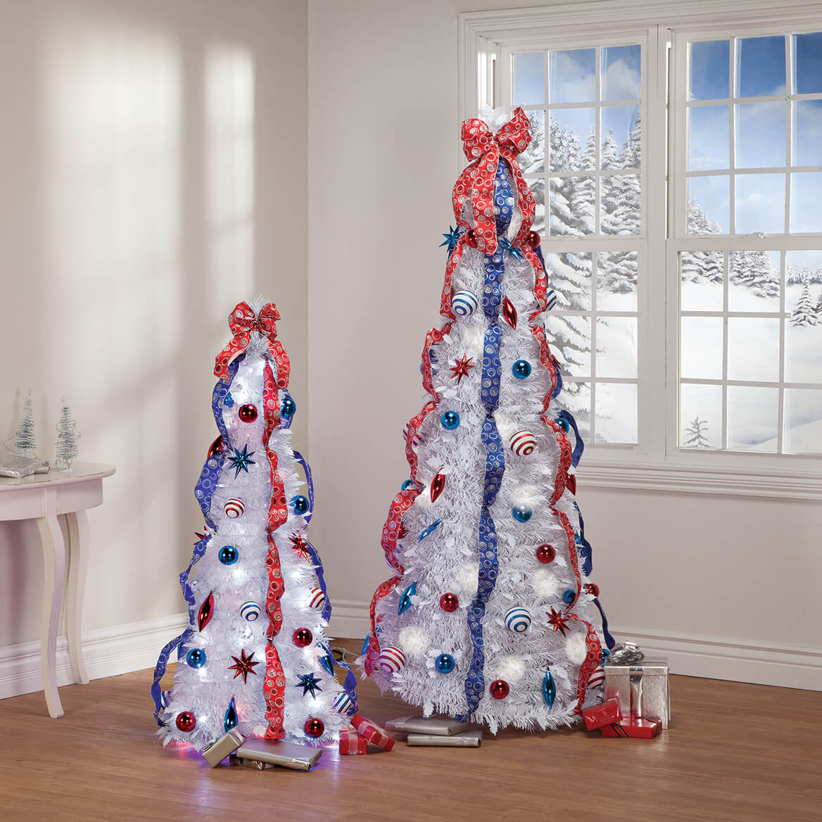 6' Patriotic Pull-Up Tree with LED Lights by Holiday Peak™-368064