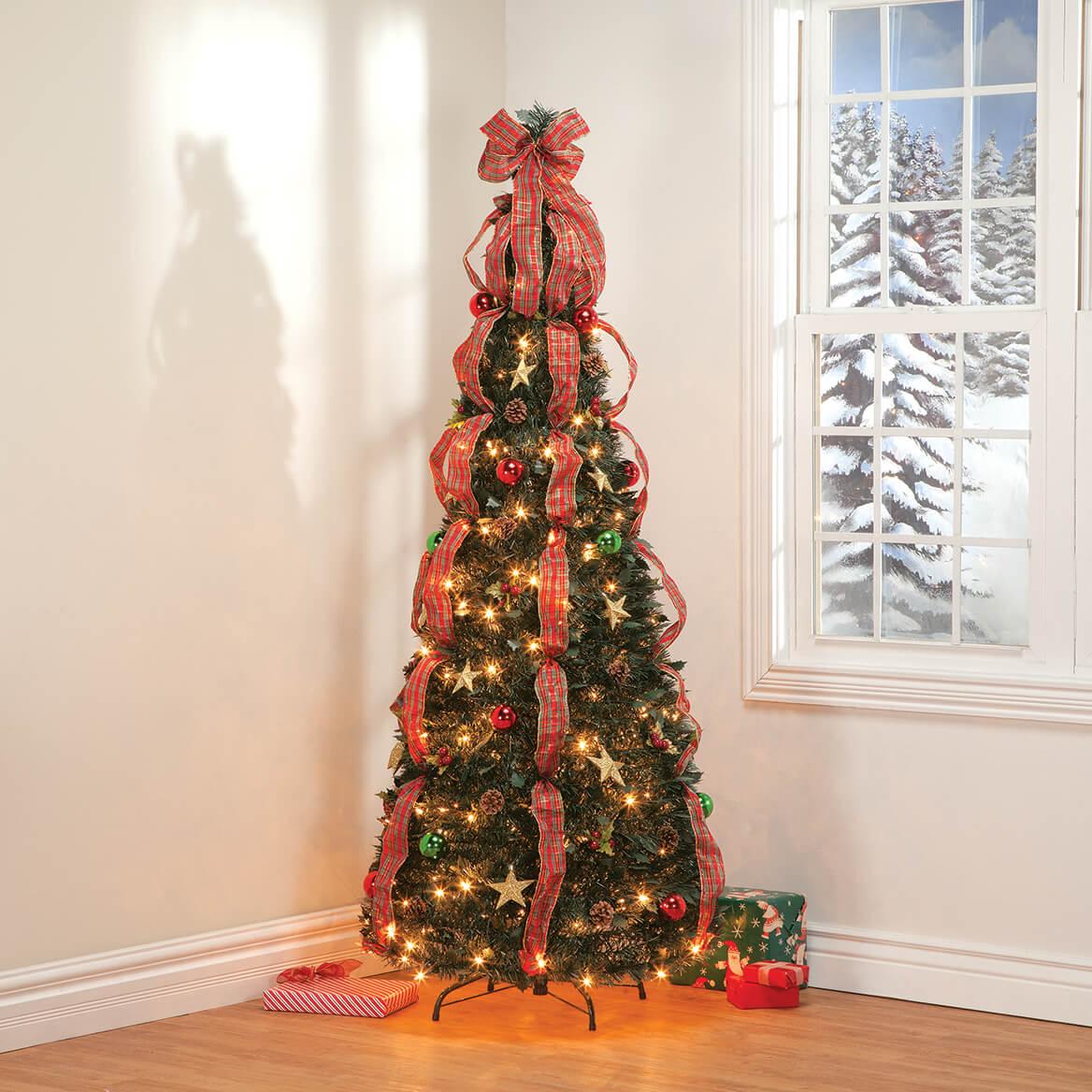 6' Plaid Pull-Up Tree by Holiday Peak™         XL-368143