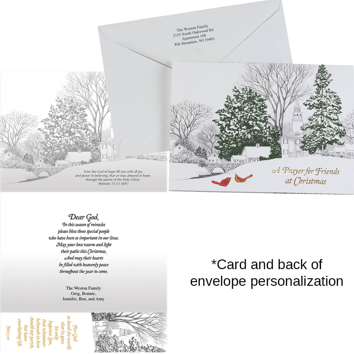 Personalized Prayer for Friends w/Bookmark Card Set/20-368255