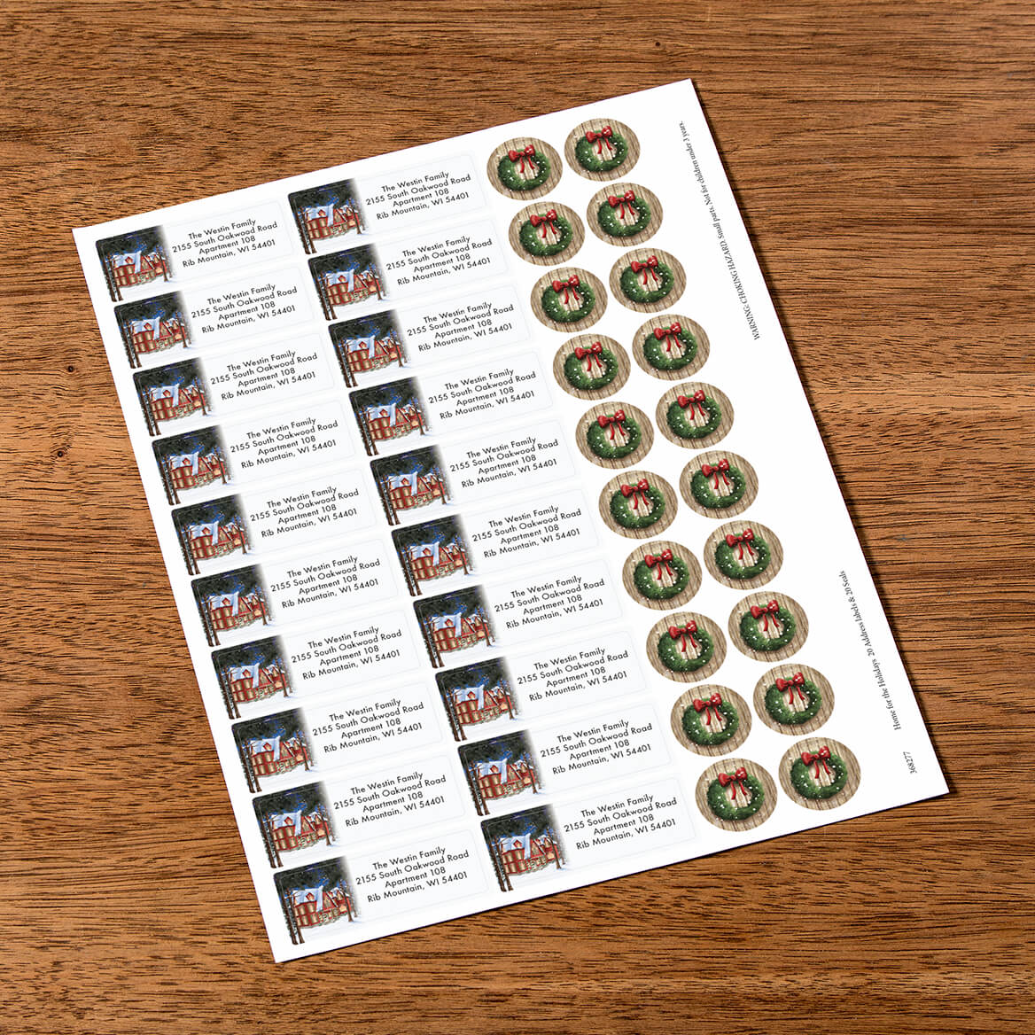 Personalized Home for the Holidays Labels & Seals 20-368277