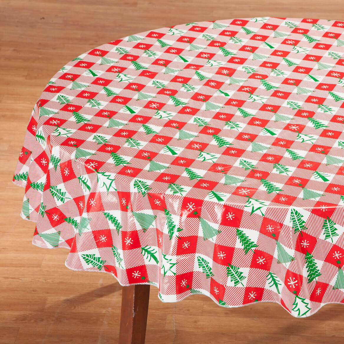 Vintage Holiday Tree Vinyl Tablecover by Chef's Pride-368353