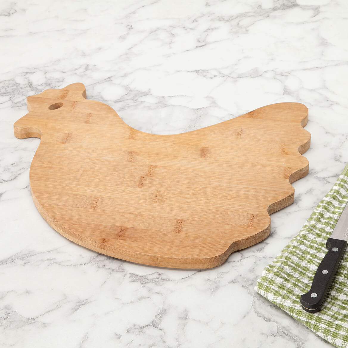 Bamboo Rooster Cutting Board-368379