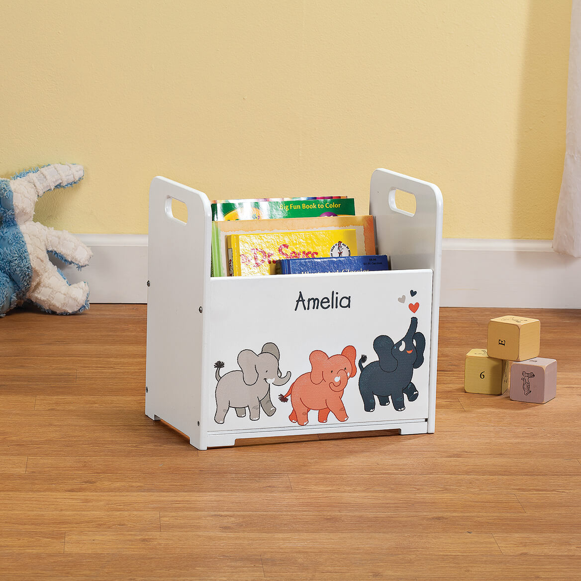 Personalized Elephants Books Caddy-368445