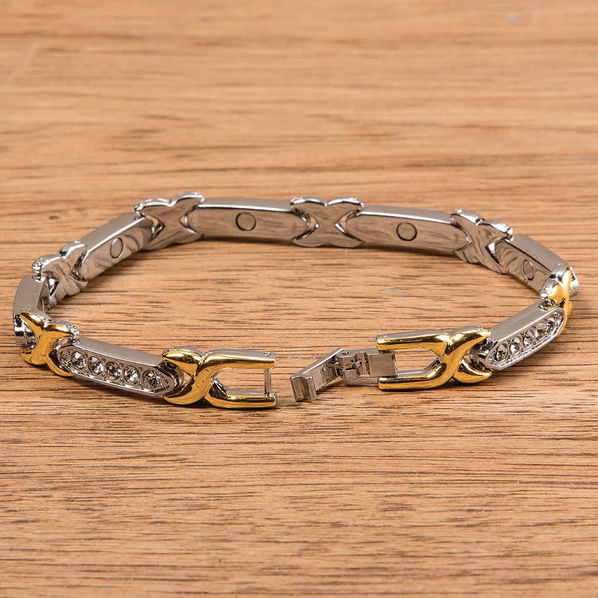 Magnetic Two Tone Bling Bracelet-368462