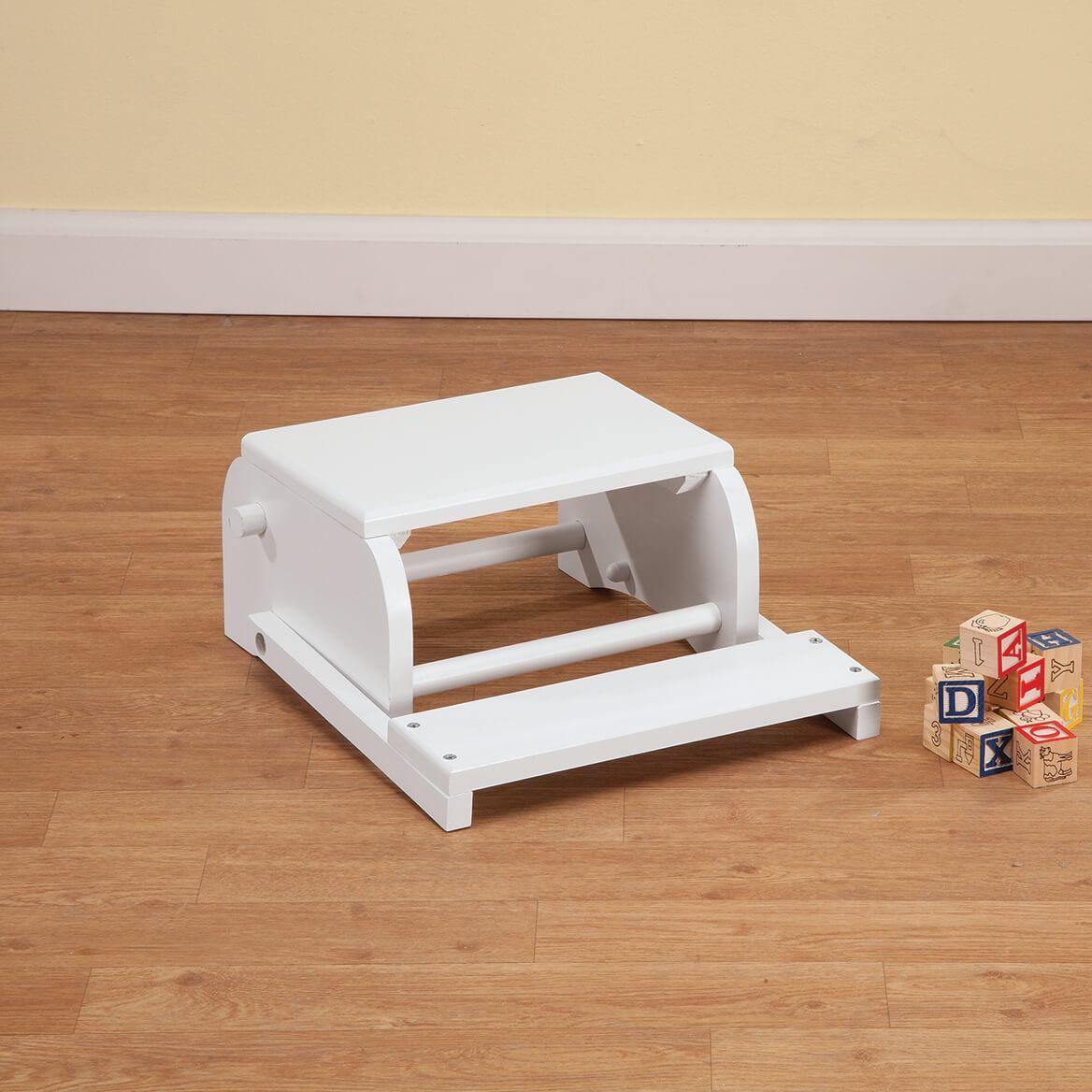 Personalized Children's White Woodland Animals Step Stool-368495