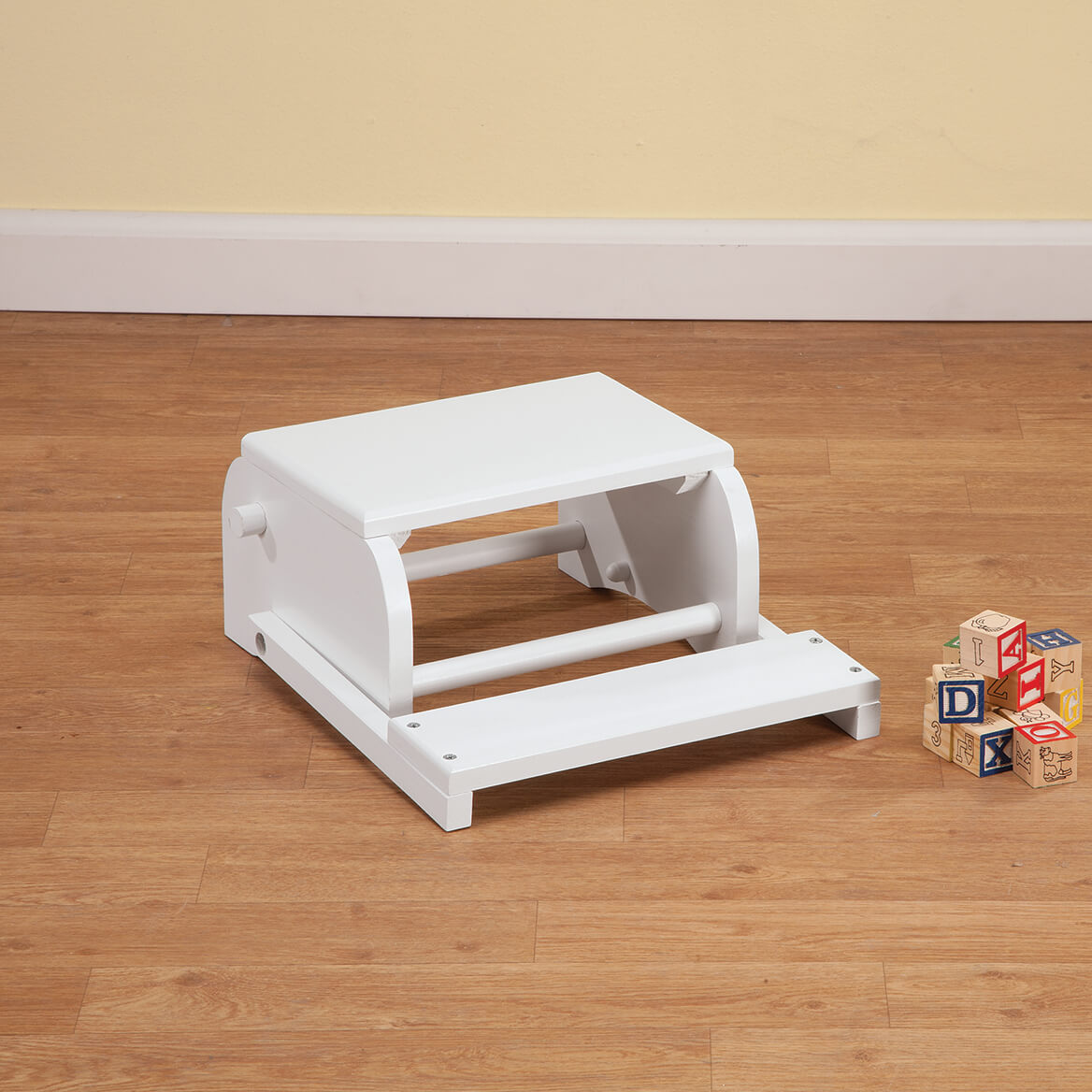 Personalized Children's White Dinosaur Step Stool-368496