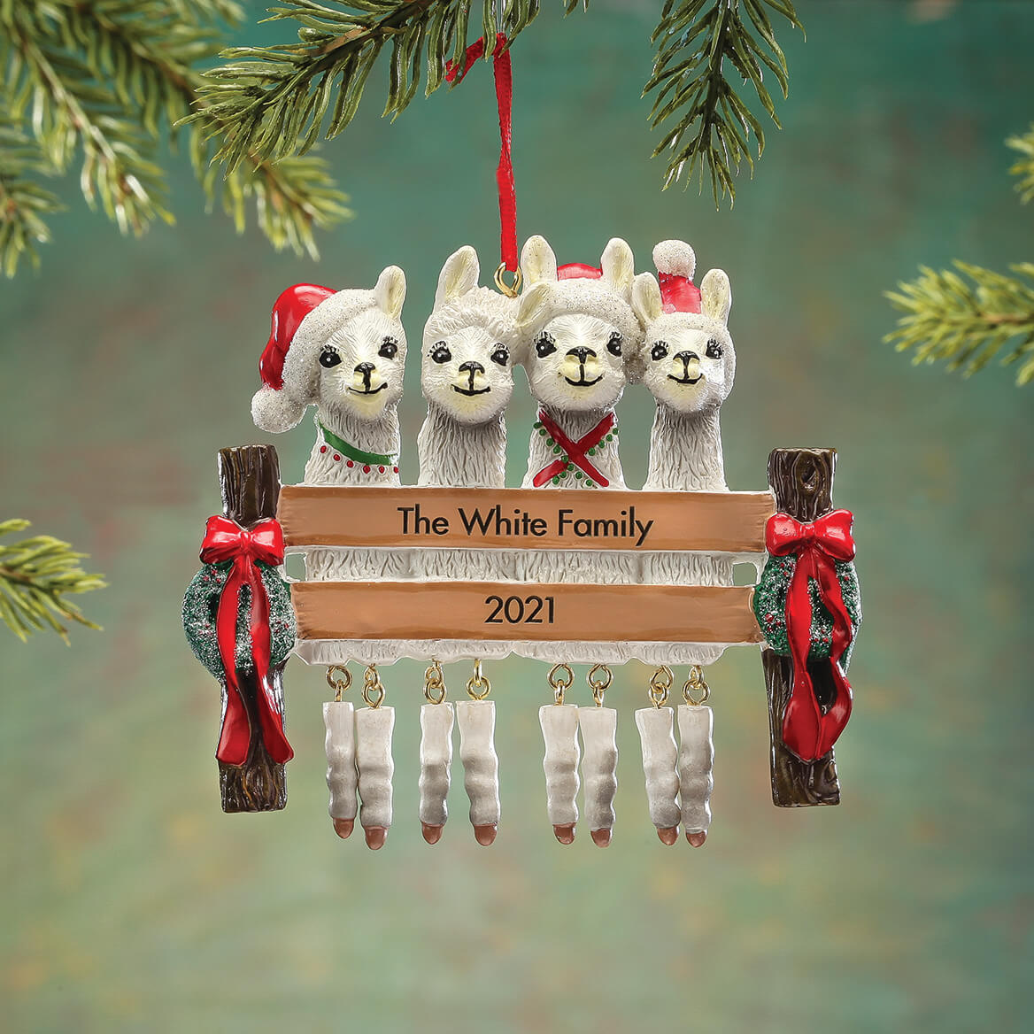 Personalized Llama Family Ornament-368551