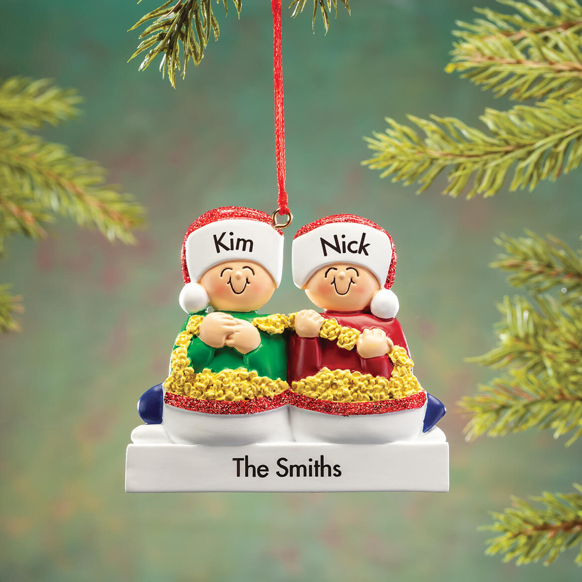 Personalized Stringing Popcorn Family Ornament-368556