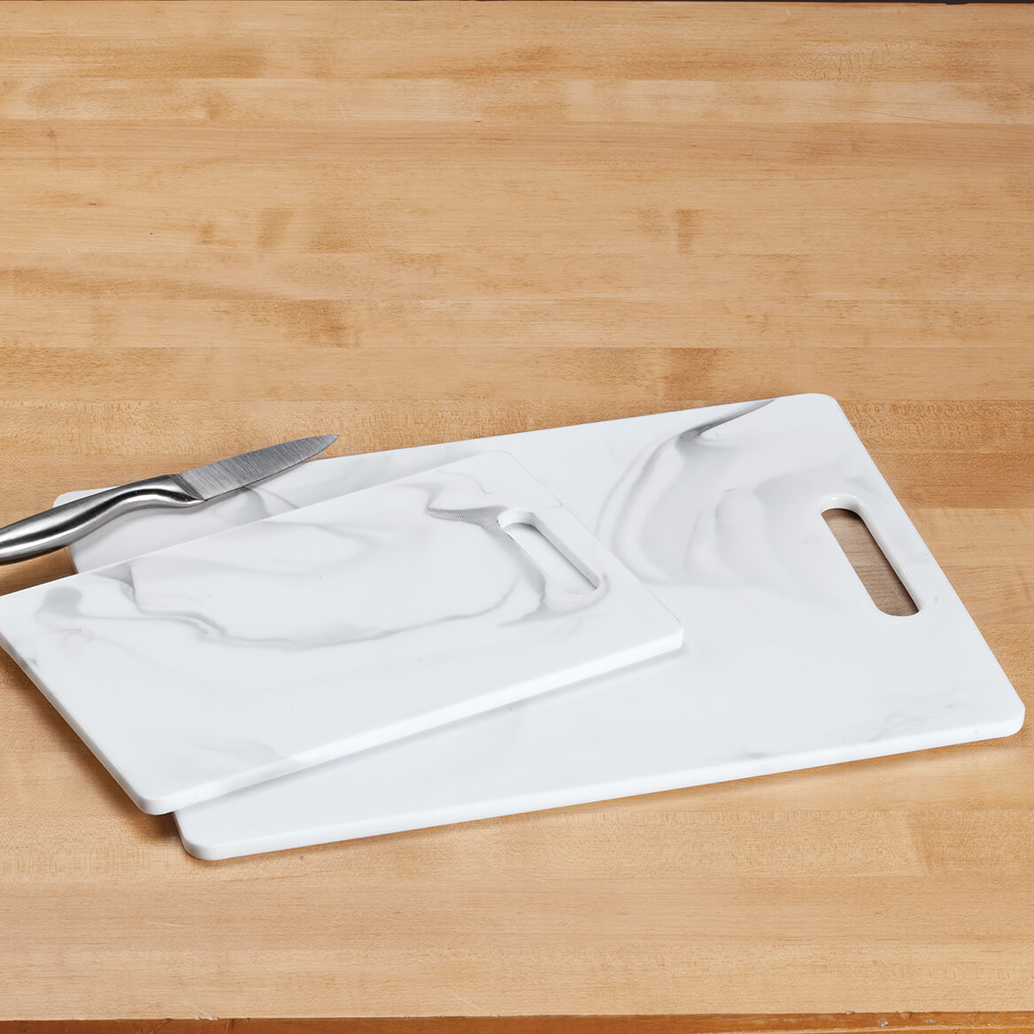 2 Pc Faux Marble Melamine Cutting Board Set by HMP-368691