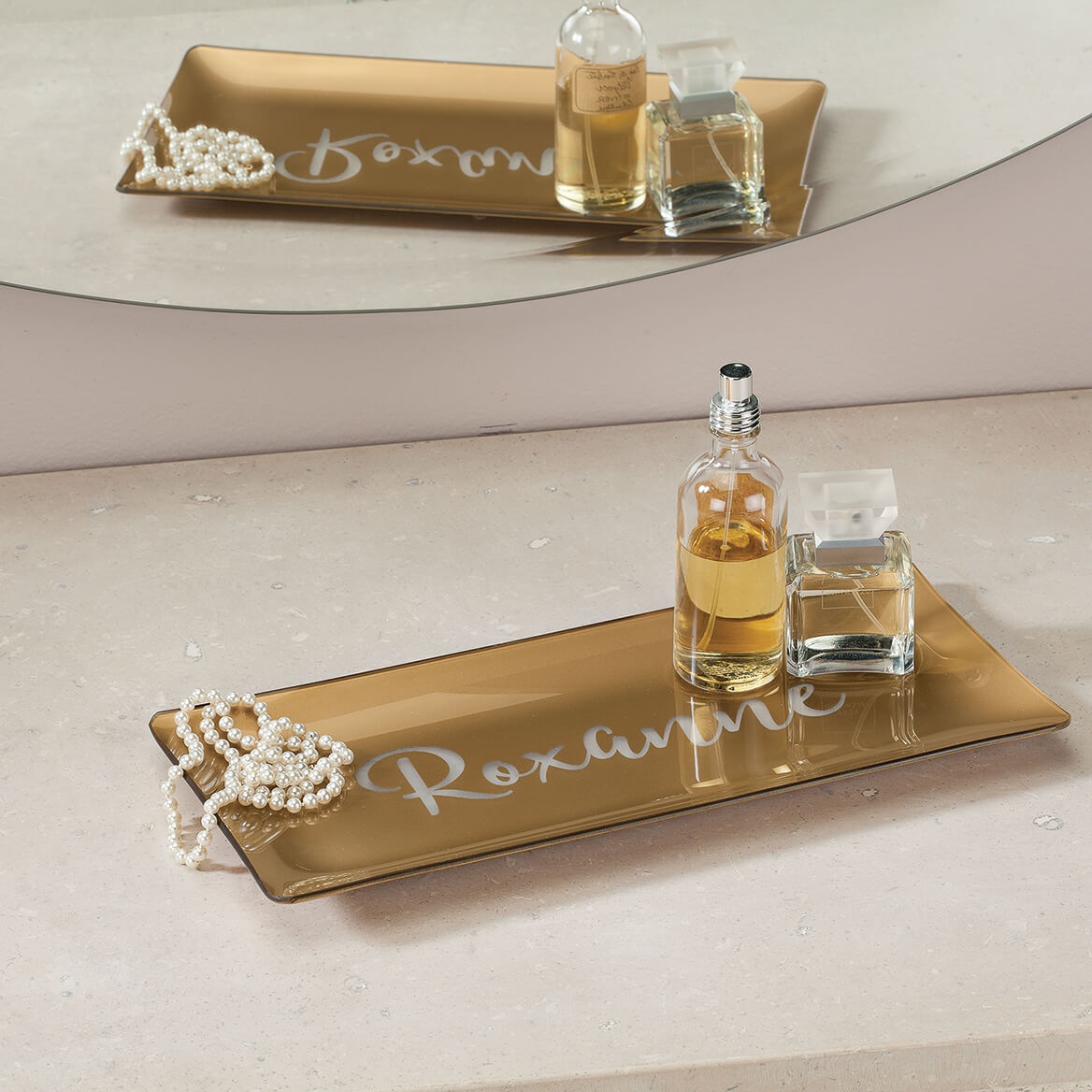 Personalized Gold Vanity Tray-368702