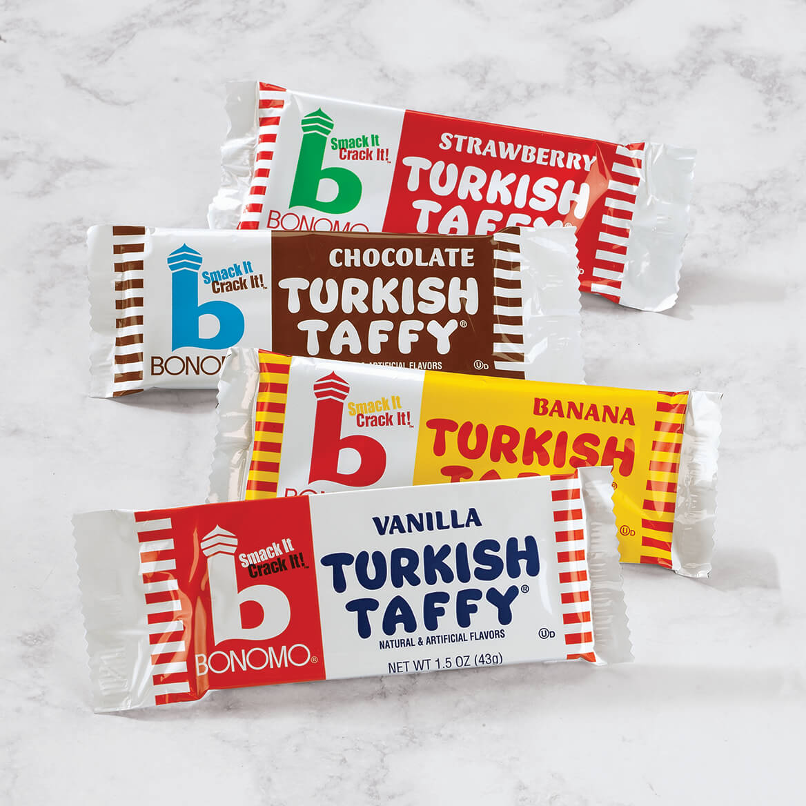 Bonomo Turkish Taffy®, Strawberry, Set of 3-368940