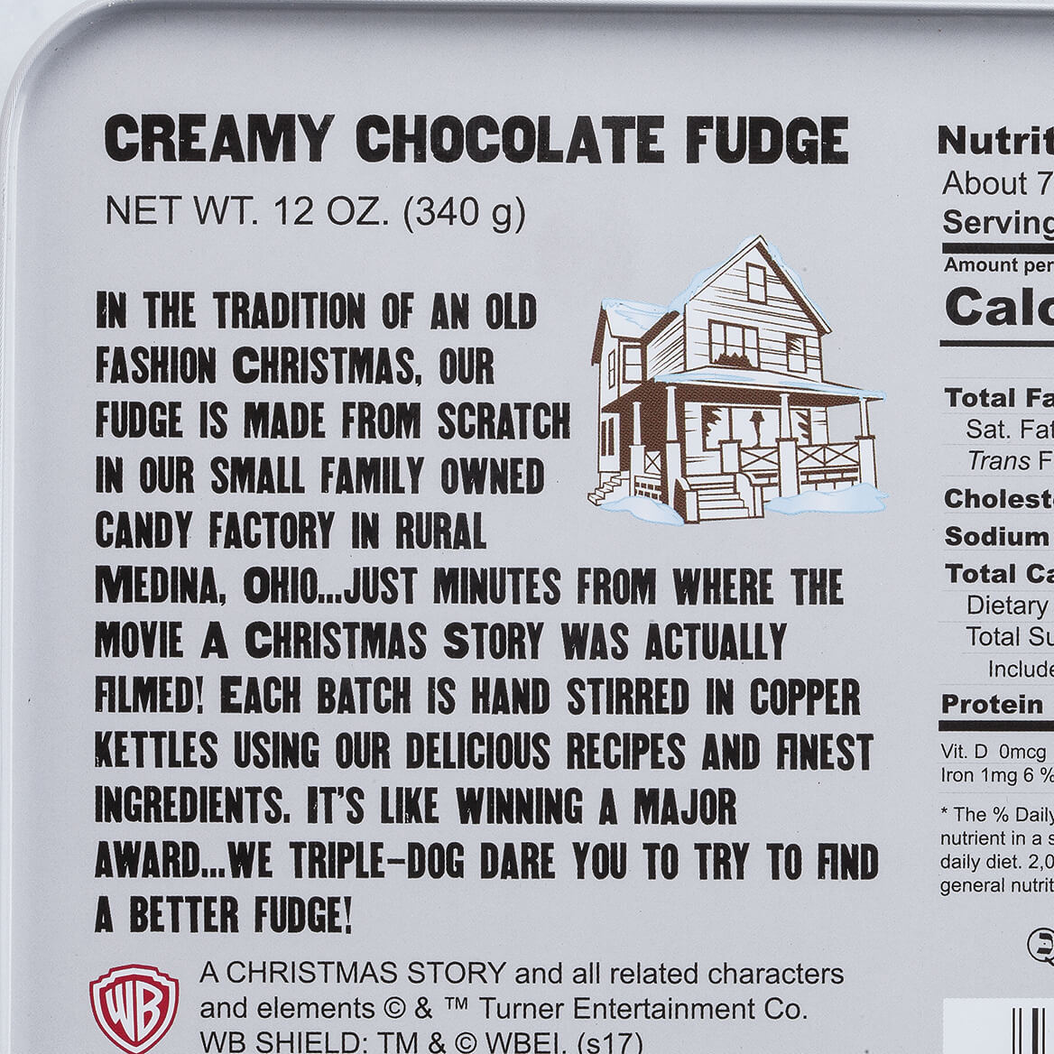 A Christmas Story Fudge Tin, Creamy Chocolate, 12 oz.-368944