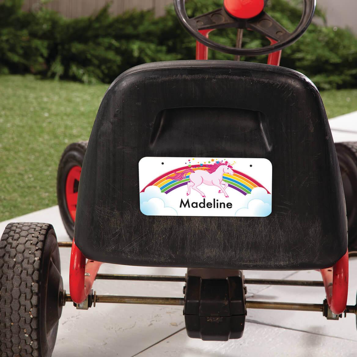 "Personalized Unicorn License Plate, 3"" x 6""-368976"